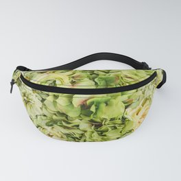 Green Flowers Fanny Pack