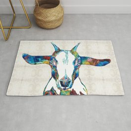 Colorful Goat Art - Colorful Ranch Farm Life - Sharon Cummings Rug