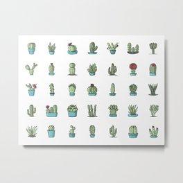 35 cactuses Metal Print