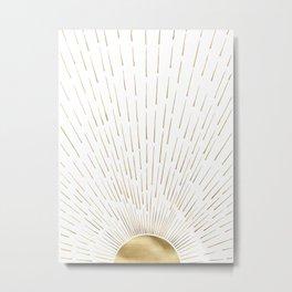 Golden sun Metal Print