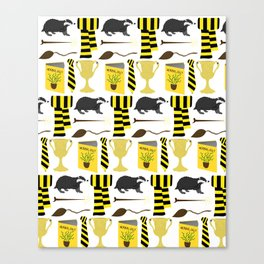 The House of Hufflepuff Pattern Canvas Print