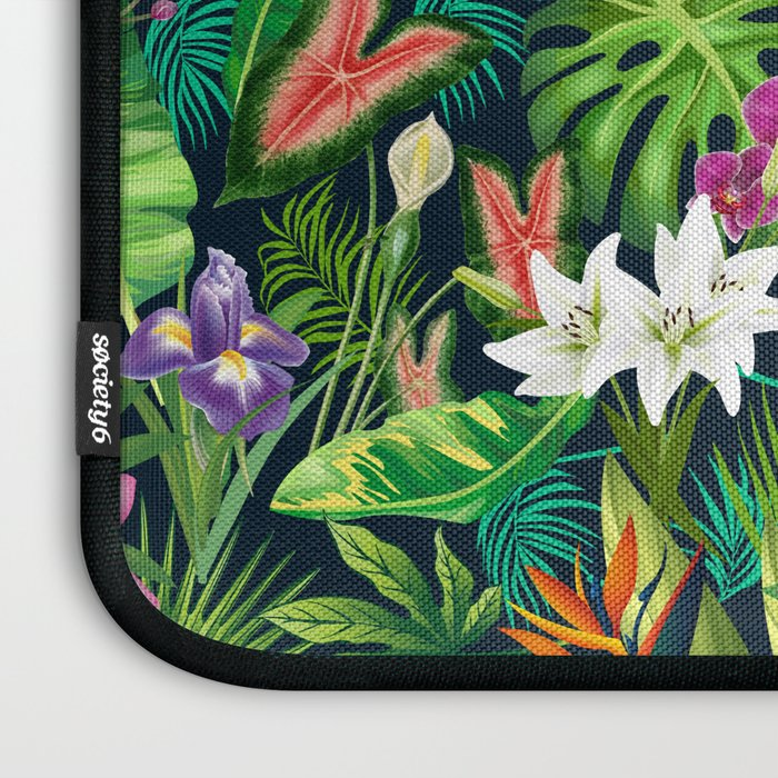 Tropical Lush Sanctuary, A Bohemian Paradise Laptop Sleeve