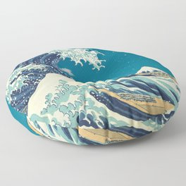 Great Wave Off Kanagawa and Starry Sky Floor Pillow
