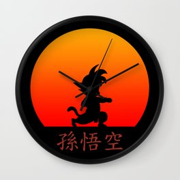Young Saiyan Warrior Wall Clock
