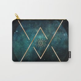 Eye Moon Gold Geometric Tribal Bohemian Mandala Carry-All Pouch