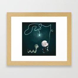 The Snake Pet Framed Art Print