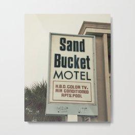 Sand Bucket Metal Print