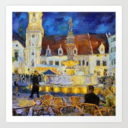 On the main square Art Print