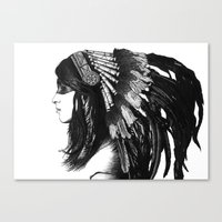 indian Canvas Prints featuring Indian by Peter Fulop