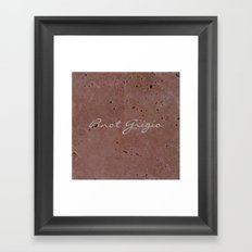 Pinot Grigio Wine Red Travertine - Rustic - Rustic Glam - Hygge Framed Art Print