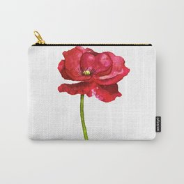Ink Poppy Painting (Original Artwork) Carry-All Pouch