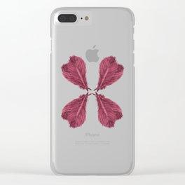 Feather Fan - Bordeux Clear iPhone Case