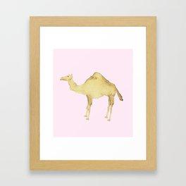 Coffee Stain Camel Framed Art Print