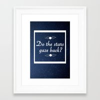 neil gaiman Framed Art Prints featuring Neil Gaiman Quote 1 by Hannah Sutker