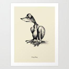 Frog Dog Art Print