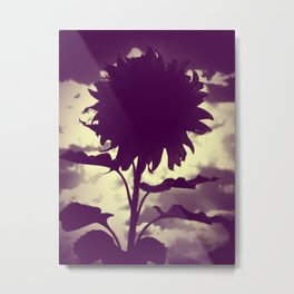 Purple Sunflower Metal Print