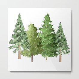 Christmas Pine Trees Metal Print
