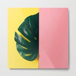 Half of palm leaf Metal Print