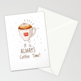 watercolor illy coffee Stationery Cards
