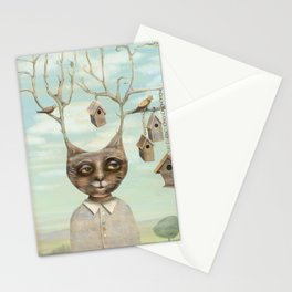 Bird Houses Stationery Cards