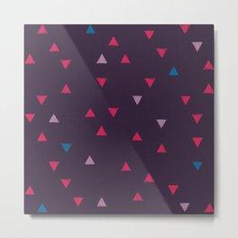 DOWN UP / black purple / raspberry / blackberry ice / shock blue Metal Print