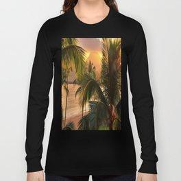 Kauai Tropical Island by OLena Art Long Sleeve T-shirt