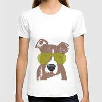 bull terrier T-shirts featuring American Pit Bull Terrier by ialbert