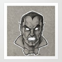 dracula Art Prints featuring Dracula by Jamile B. Johnson