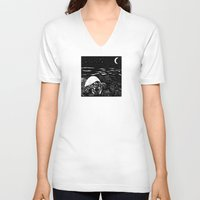 crab V-neck T-shirts featuring Crab by Megan Spencer