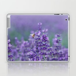 Lavender with bee in the background Laptop & iPad Skin