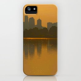 Come Sit With Me At Sloan Lake Downton Denver Colorado iPhone Case