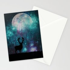 falling stars alone Stationery Cards