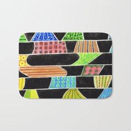Black versus Color Bath Mat