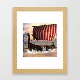 The  viking longship Framed Art Print