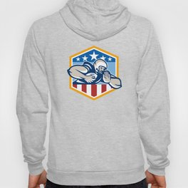 American Football Running Back Fend-Off Crest Hoody