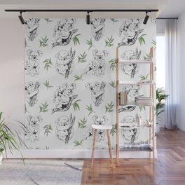 Koala Print Wall Mural