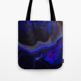 Dark Purple Blue Galaxy - Midnight Shades Tote Bag