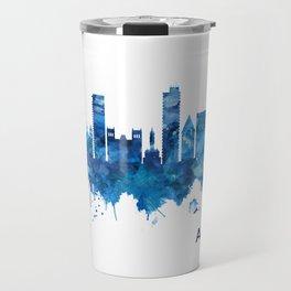 Alicante Spain Skyline Blue Travel Mug