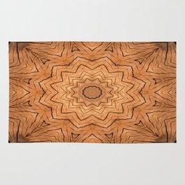 Wood Kaleidoscope a Rug