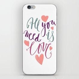 Love quotation handwriting iPhone Skin