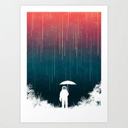 Meteoric rainfall Art Print