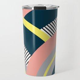 Colorful geometry 10 Travel Mug