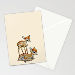 Darling Fawns  Stationery Cards