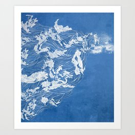 Thief of the waves Art Print