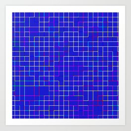 Re-Created SquaresXII Art Print