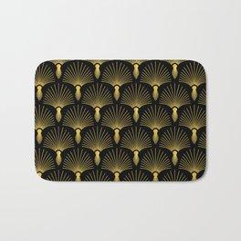 Vintage Hollywood Elegant Gold and Black Art Deco Bath Mat