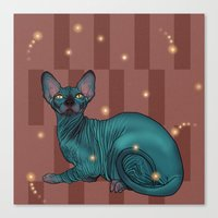 sphynx Canvas Prints featuring Sphynx by Illness