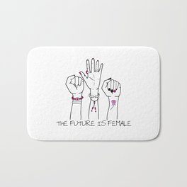 The future is female Bath Mat
