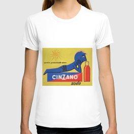 Vintage Cinzano Aperitif Amare Advertising Poster T-shirt