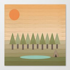 Camping Out Canvas Print